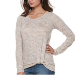 Juicy Couture Melange Pink Peach Sweater